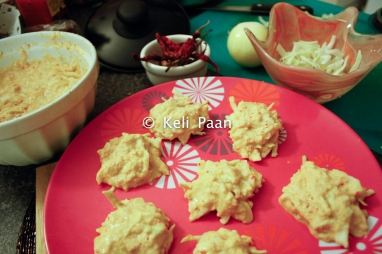 Make small Patty's from the batter ready