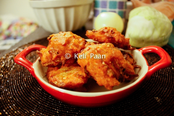 Cabbage Ambade/ Cabbage Onion Fritters