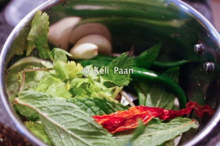 Ingredients for the masala