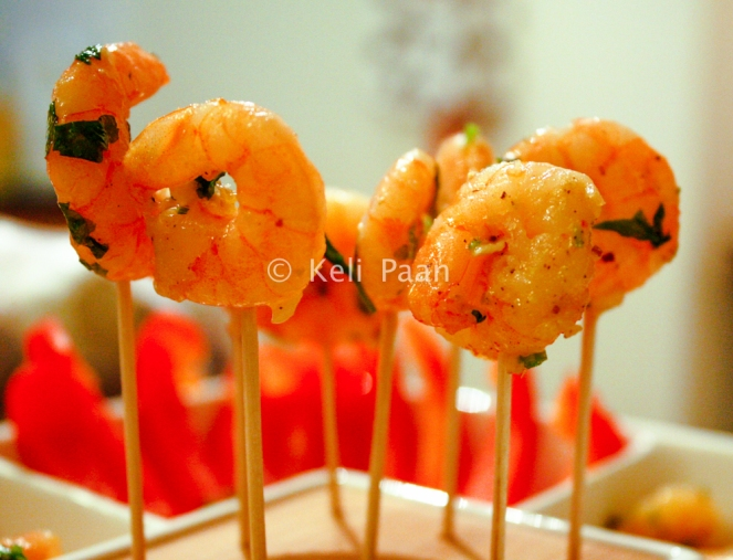 Lemony Prawns with Parsley