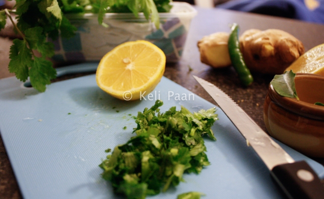 chopped coriander for the garnishing