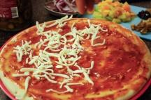 Add the first layer of mozzarella