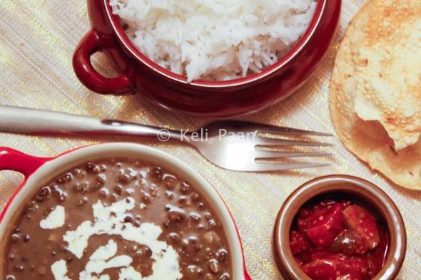 Dal Makhni/ Buttery black lentils