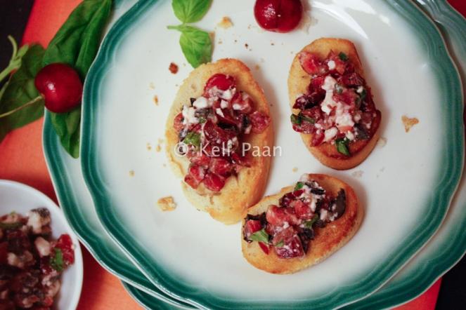 Cherry n Olive Bruchetta