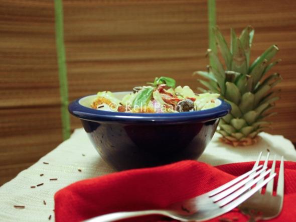Pineapple, Sultana Salad with chocolate sprinkles