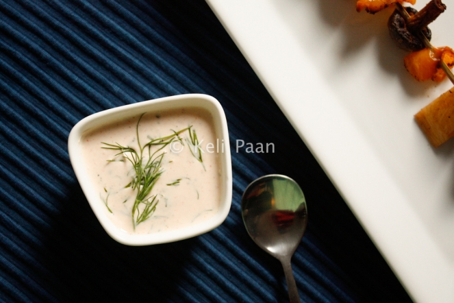 Teekha Meeta Yogurt dip