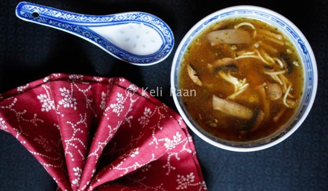 Lemon Mushroom Noodle Soup