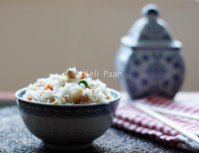 Burnt Garlic Chilli Fried Rice with Chicken