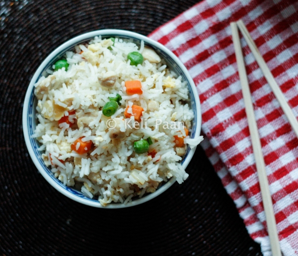 Burnt Garlic Chilli Fried Rice with Chicken