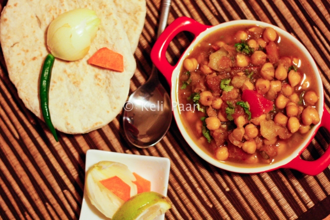 Chole with Pita bread..