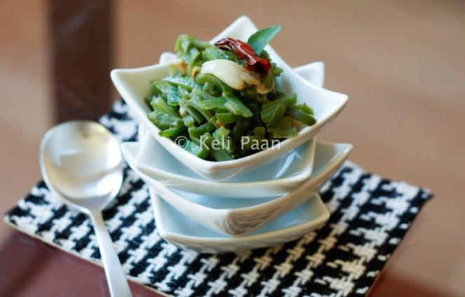 Beans Telasan/ Stir fried beans - Konkani style