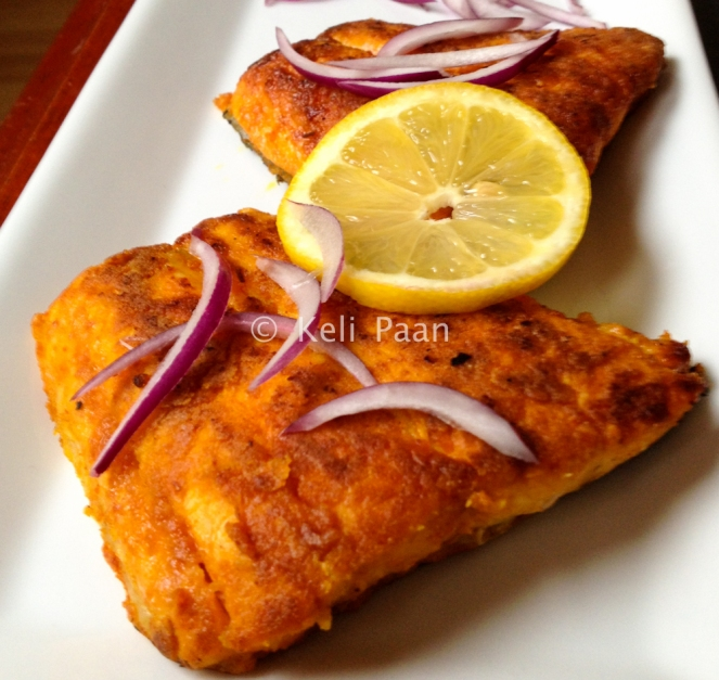 Fish Fry with a Konkani style batter..