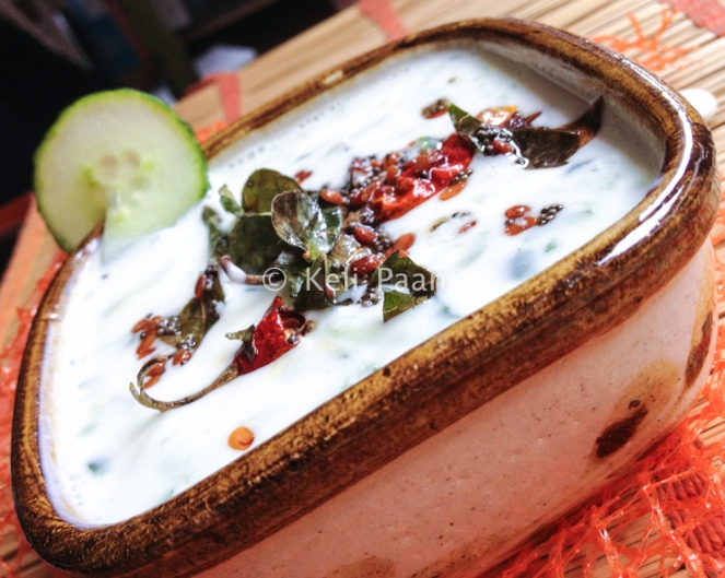Tempered Cucumber Raita - South Indian Style