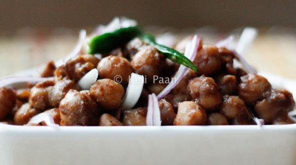 Chana masala, before adding the coriander leaves..