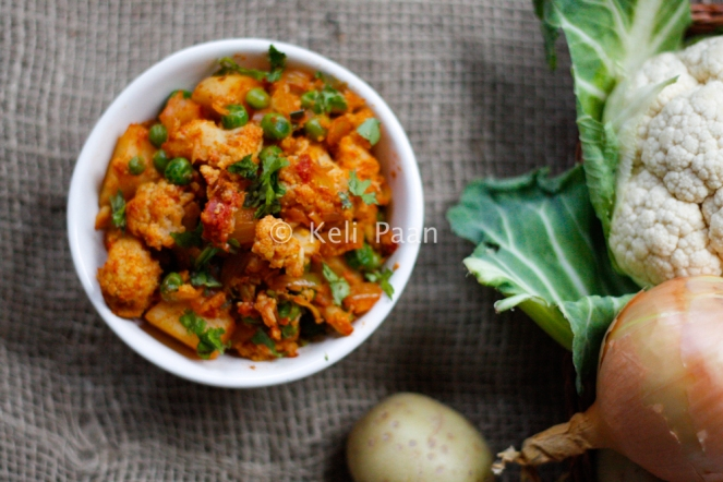 Adraki Aloo Gobi/Gingery Potato & Cauliflower...