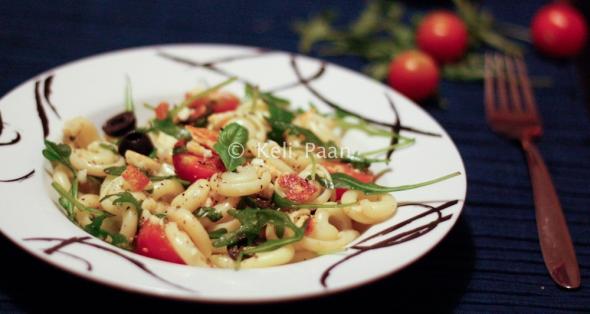 Fried Halloumi Pasta Salad...