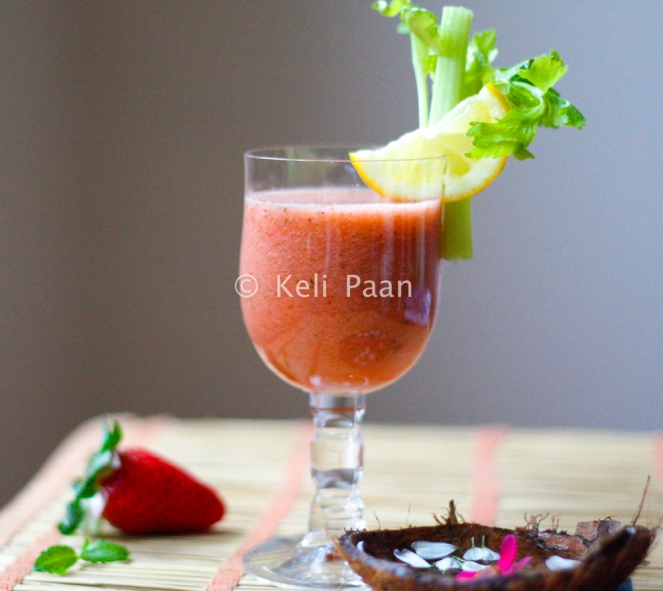 Tangy, herbed fruit punch...