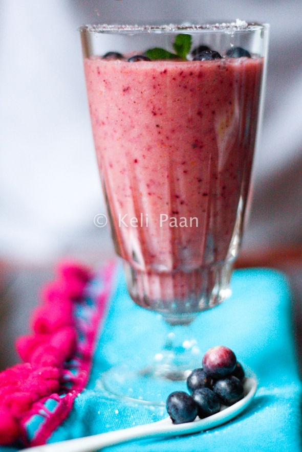 Pineapple & Blueberry yogurt smoothie...