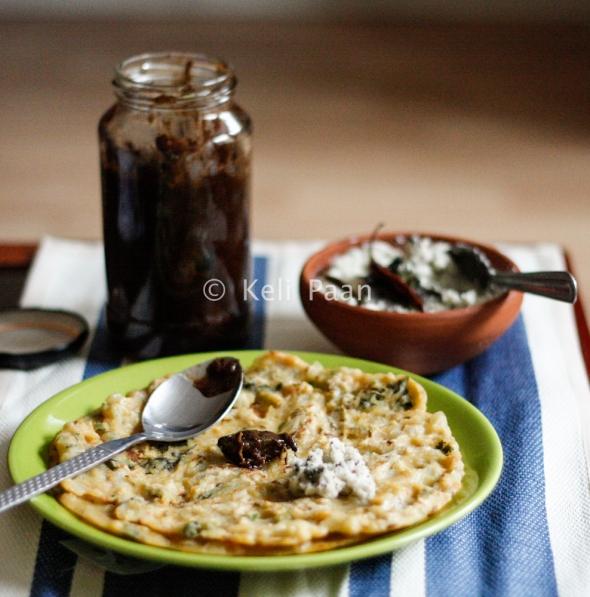 Akki Rotti/Savoury Rice Pancakes from Karnataka...