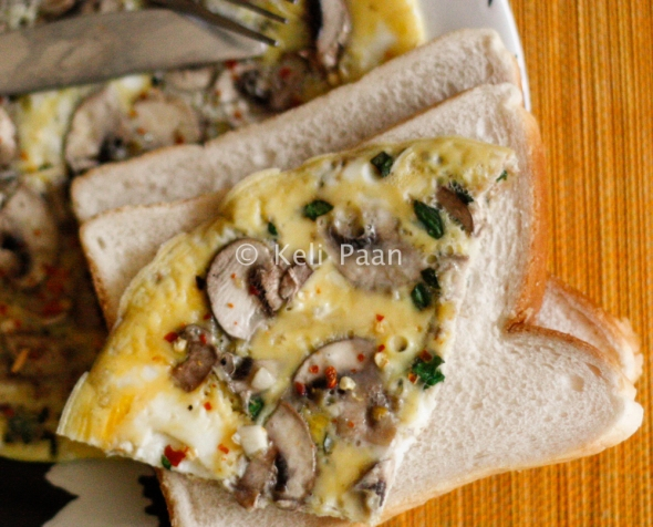 Herbed Mushroom Omelette..