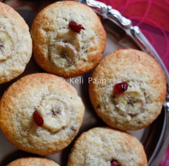 Banana Cranberry Muffins...
