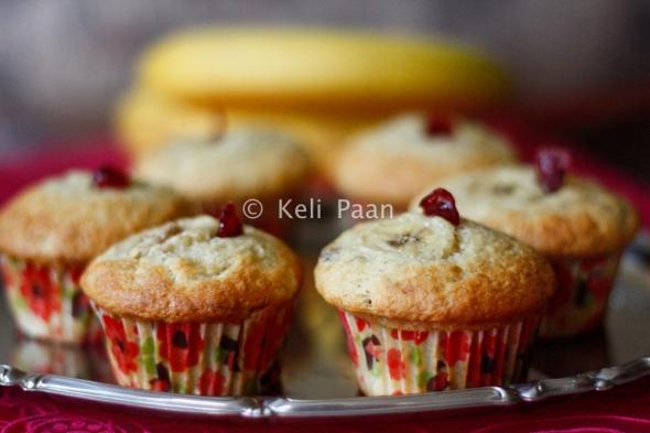 Banana Cranberry Muffins..