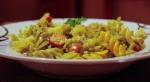Frankfurters & pasta tossed in a hot creamy capsicum sauce...