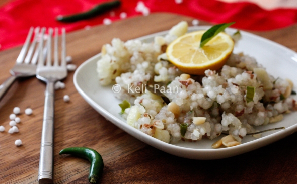Sabudana Khichdi/Soaked Tapicoa pearls tossed with some Indian spices...