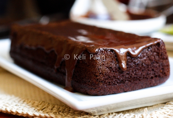 Coffee Banana loaf Cake with Coffee ganache frosting....