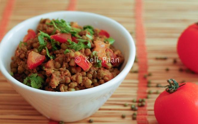 Khatta Mag/Gujarati style moong bean sabji