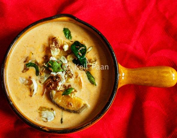 Kale Koddel/ Raw plantain in a tangy coconut curry...