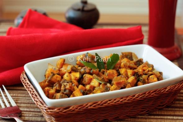 Peppery Raw plantain sabji...