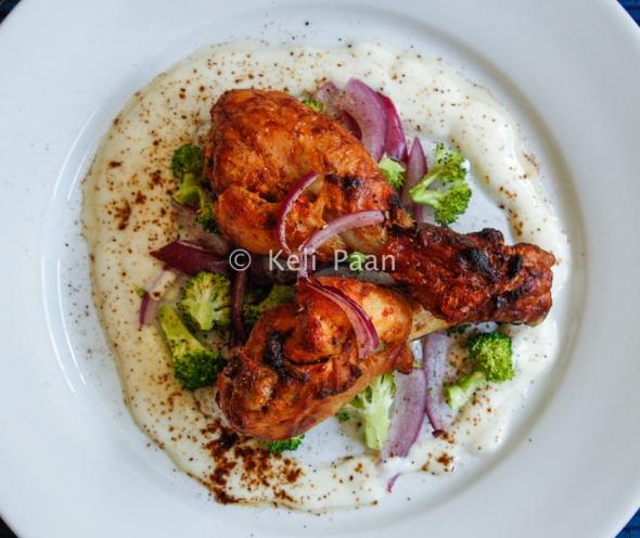 Mustard & Peri Peri flavoured grilled chicken..
