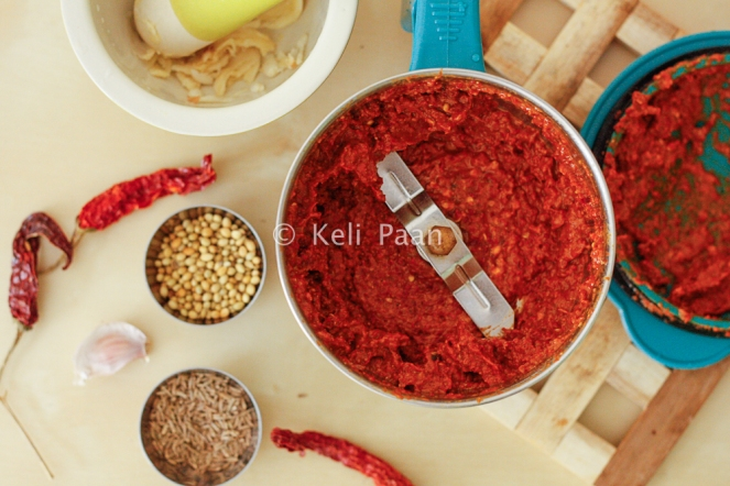 Freshly ground masala/paste..