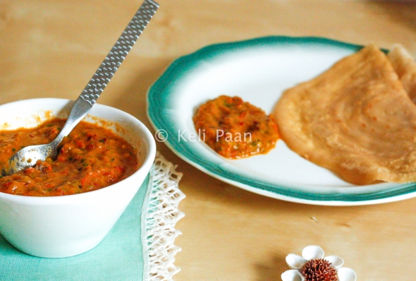 Capsicum Chutney .. served with Dosa..