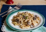 Tagliatelle with Mushrooms in white sauce...