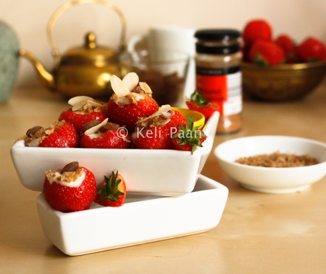 Yogurt Filled Strawberry Pots!