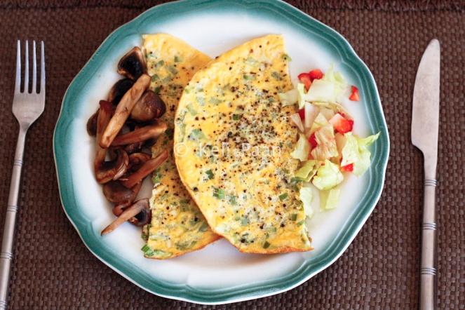 Celery omelette..
