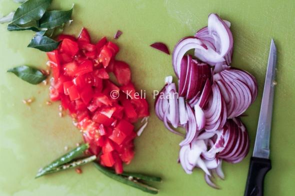 Chopped veggies..