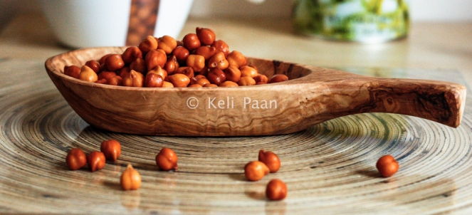Soaked & drained channa/chickpeas