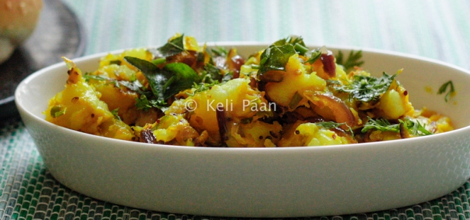 South Indian Style potato bhaji.. for masala dosa..