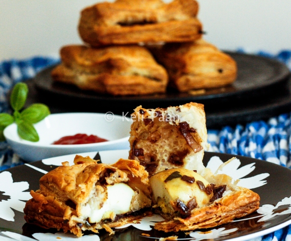 Egg Puffs - A South Indian, Savoury Bakery treat...