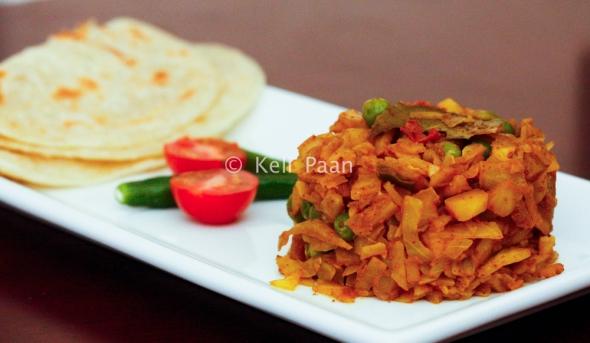 Bandha Kopi r Torkari - Bangali Style Cabbage tossed with spices...