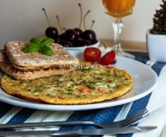 Peppered Broccoli omelette with Oriental flavours.....