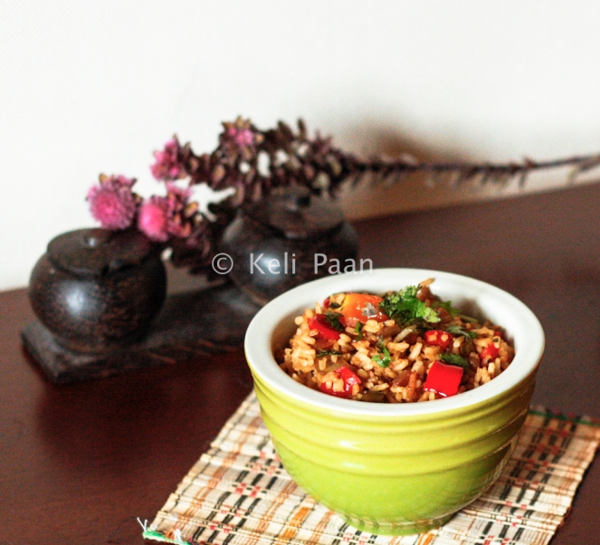 Red Pepper & Celery Fried rice..