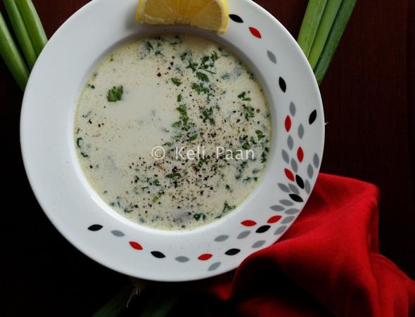 Creamy Lemon Coriander Soup...