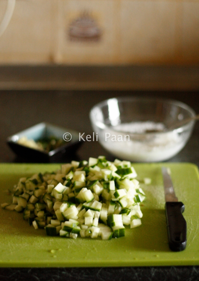 finely chopped cucumber....