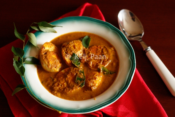 Masala Eggs in curry..