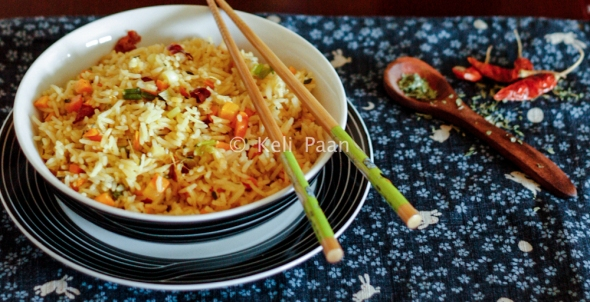Lemon thyme flavoured Chilli fried rice….
