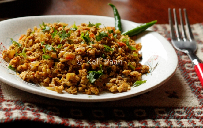 Indian spiced scrambled eggs/Anda burji...